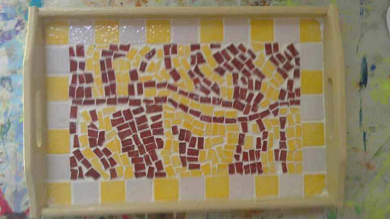 grande section plateau en mosaïque pour la fête des mères