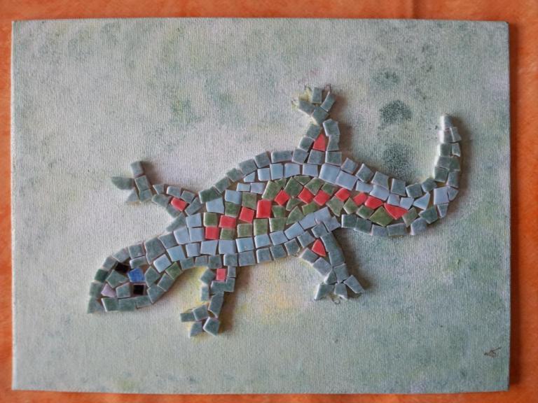 mosaïque sur carton toilé