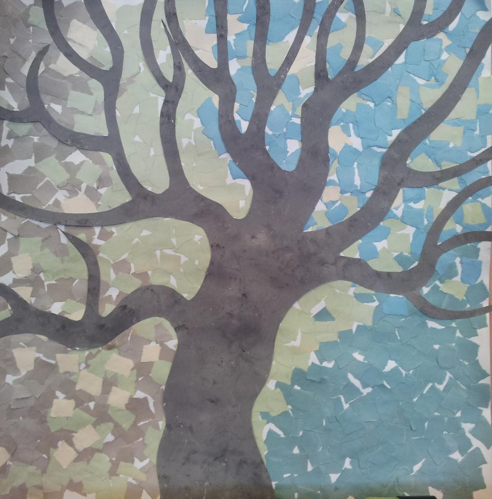 arbre en hiver collage petite section maternelle