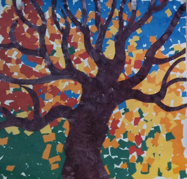 arbres collage petite section maternelle