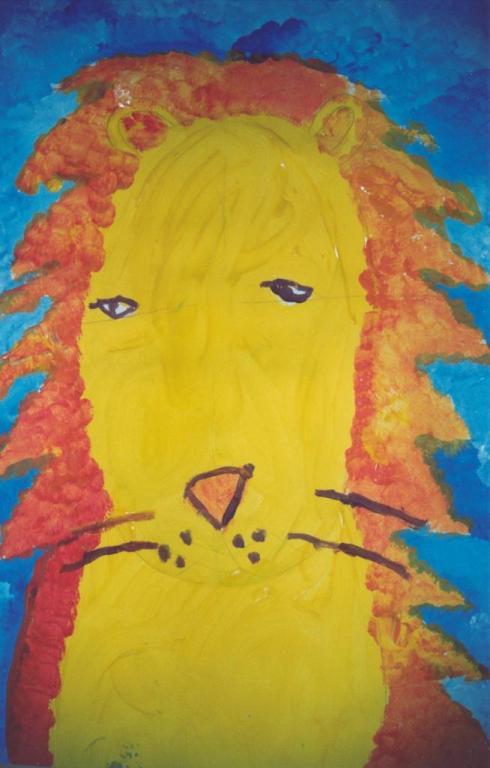 lion à la gouache