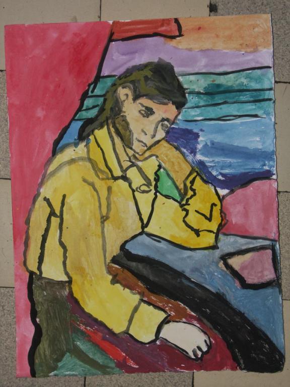 travail de ce2 d'après Cézanne
