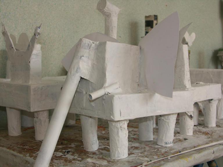 animaux en papier mâché moyenne section