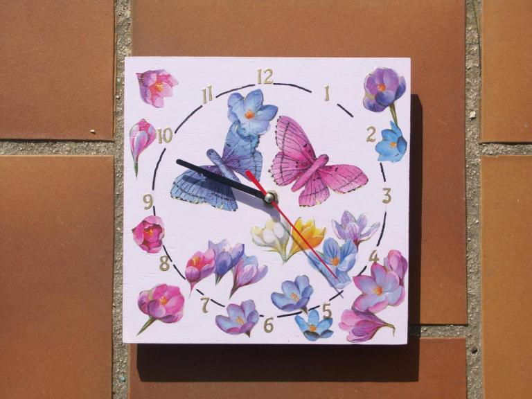 horloge en décopatch