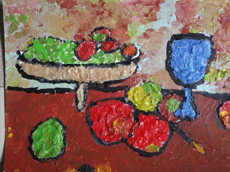 ce2 nature morte d'après Cézanne