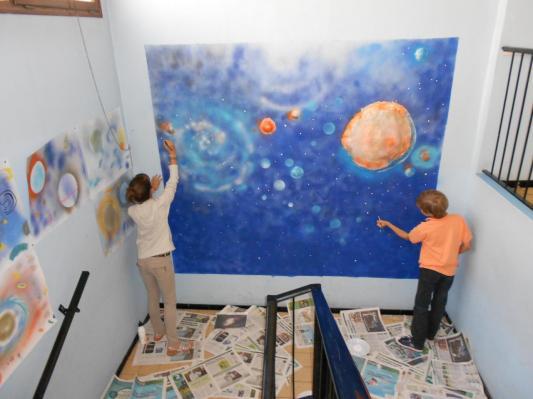 fresque sur l'espace